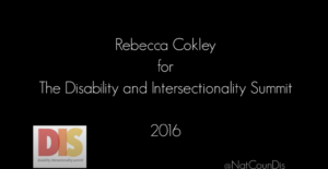 Rebecca Cokley - National Council on Disability: Continuing Intersectional Work